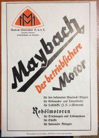 (Maybach(01) Рекламный плакат 1925 г. 22 х 31 см. (двусторонний)