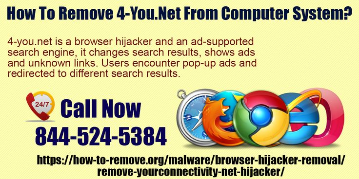 How to remove 4-you.net from computer system? Visit https://how-to-remove.org/malware/browser-hijacker-removal/remove-yourconnectivity-net-hijacker/