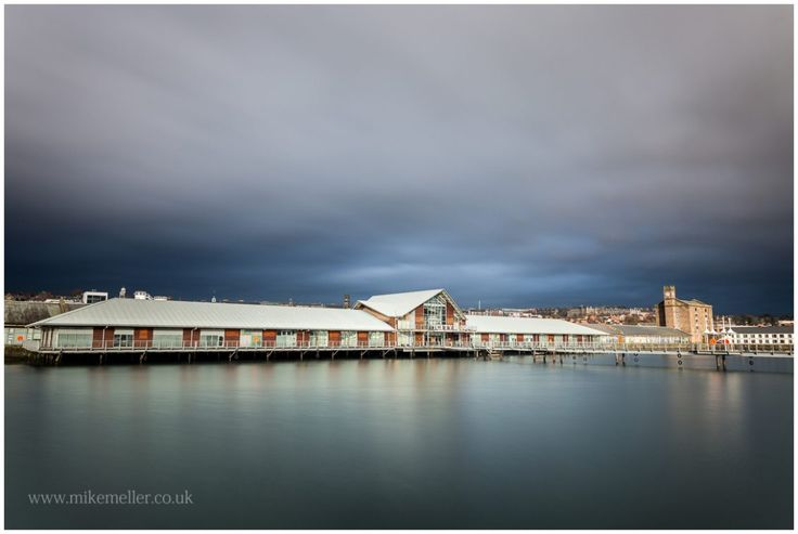 City Quay in Dundee, SCOTLAND. Clouded Sky Over The City.