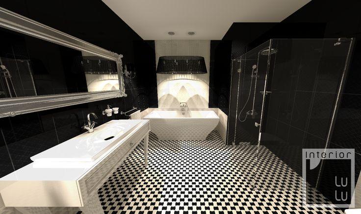 Łazienka w stylu barokowym nowoczesnym, new baroque