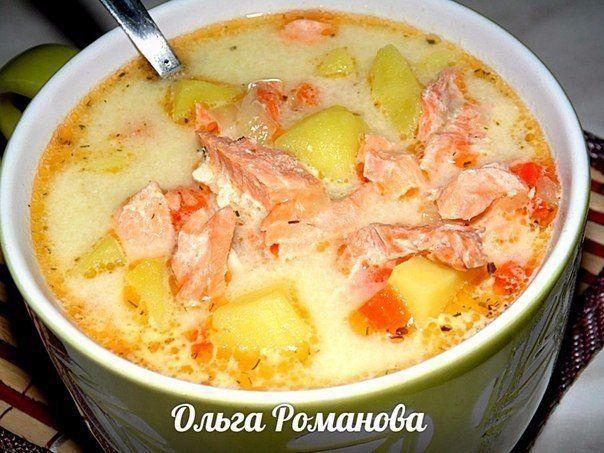 Финский суп с лососем и сливками|СвежачОк ☺