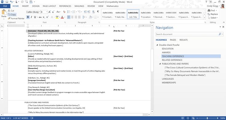 Use Free Resumes from Microsoft to Get Your Next Job: Teacher CV Resume or Curriculum Vitae Template for Microsoft Word