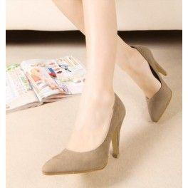 Sepatu Platform Bludru untuk Wanita Perkantoran Modern