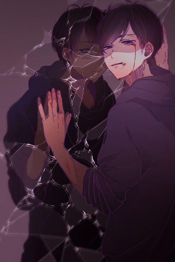 Osomatsu-san- Ichimatsu #Anime「♡」| Idk, I think is Karamatsu. OC
