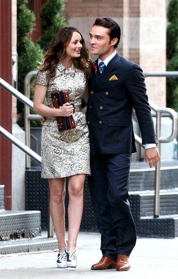 Blair and Chuck- love the dress