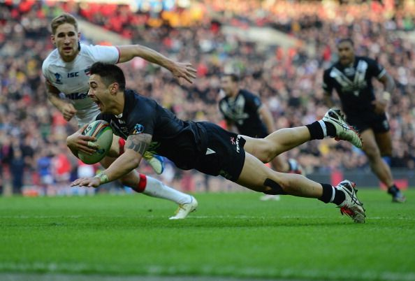 Kiwi's Shaun Johnson -  For the best rugby gear check out http://alwaysrugby.com