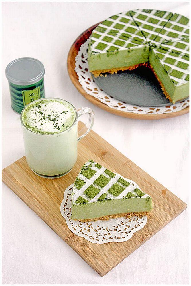 Matcha Tofu Cheesecake 豆腐チーズケーキ