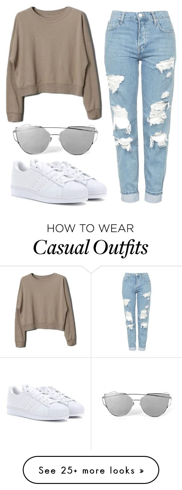 """Comfy Casual"" by nyah-king on Polyvore featuring Topshop and adidas"