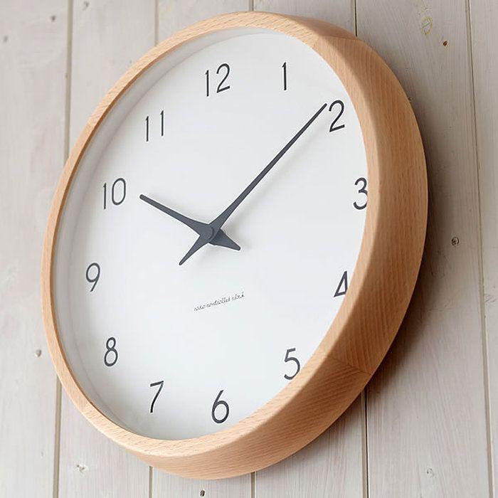 掛け時計/電波時計/Lemnos/レムノス/Campagne/カンパーニュ/PC10-24W/電波壁掛け/掛時計/時計/壁掛け時計