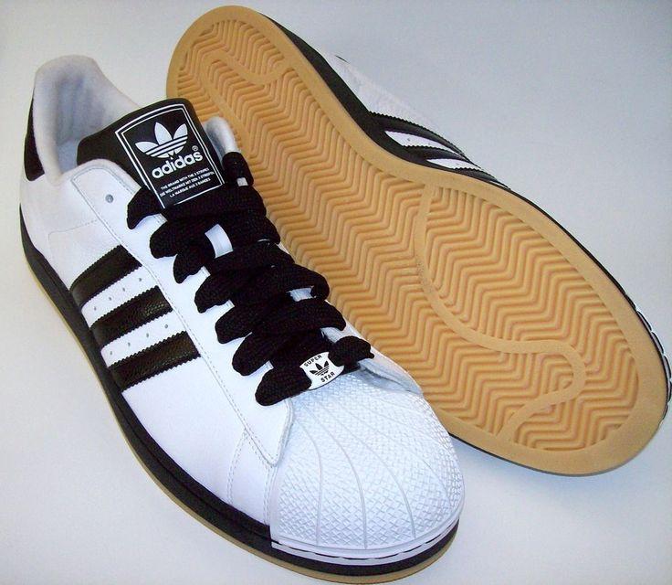 Mens Adidas Originals SUPERSTAR Classic Casual Sneaker Shoe Sz 18 WHITE  BLACK #Adidas #CasualShoes