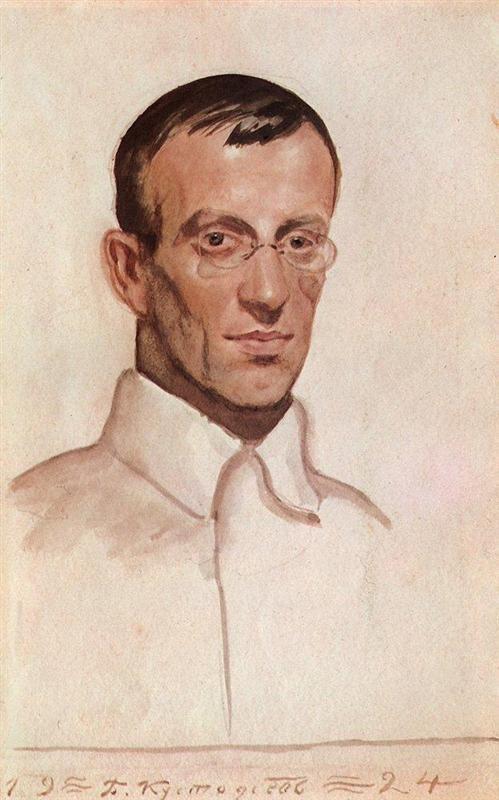 Portrait of Vsevolod Voinov - Boris Kustodiev, 1924