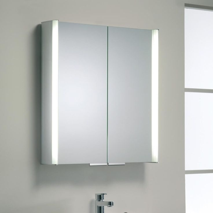 Bathroom Cabinets With Shaver Socket slimline mirrored bathroom cabinet