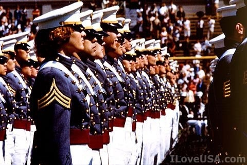 A pic of women who were the first to be accepted at West Point Military Academy in 1976.