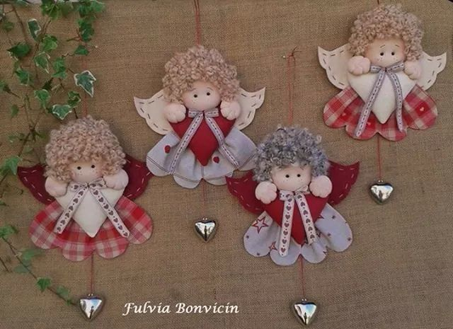 Handmade Christmas Angels + Diagram