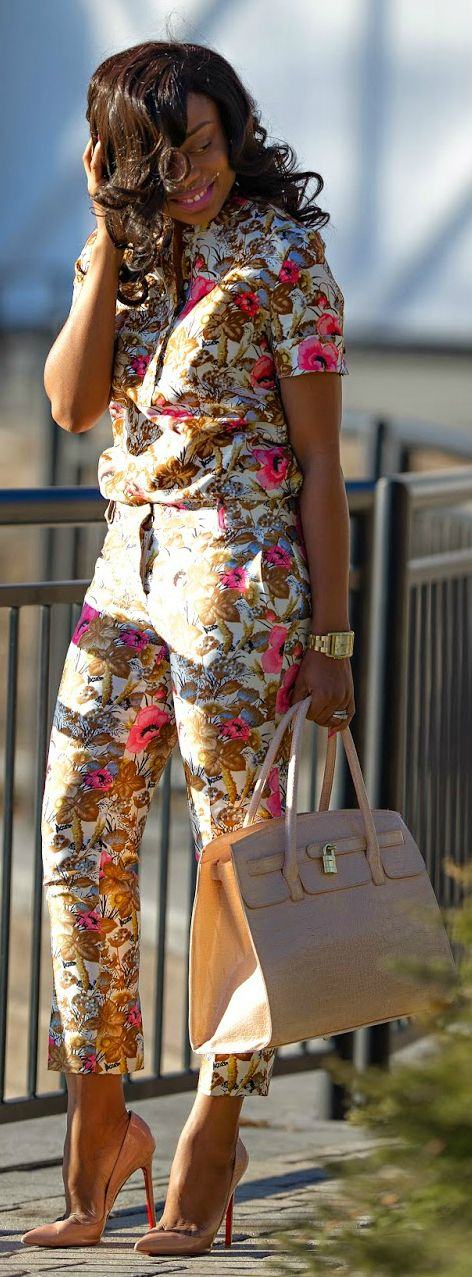 Spring Floral by Jadore-Fashion ~Latest African Fashion, African Prints, African fashion styles, African clothing, Nigerian style, Ghanaian fashion, African women dresses, African Bags, African shoes, Nigerian fashion, Ankara, Kitenge, Aso okè, Kenté, brocade ~DK