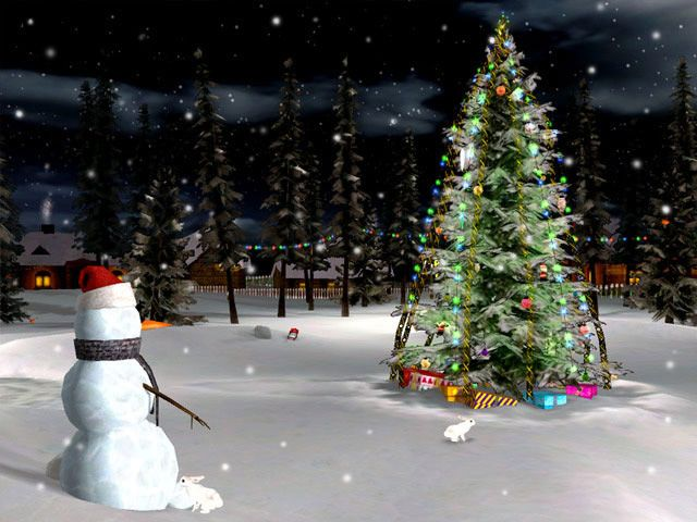 Christmas Screensavers for Windows 7 | Christmas Eve 3D Screensaver screenshots - Windows 7 download ...