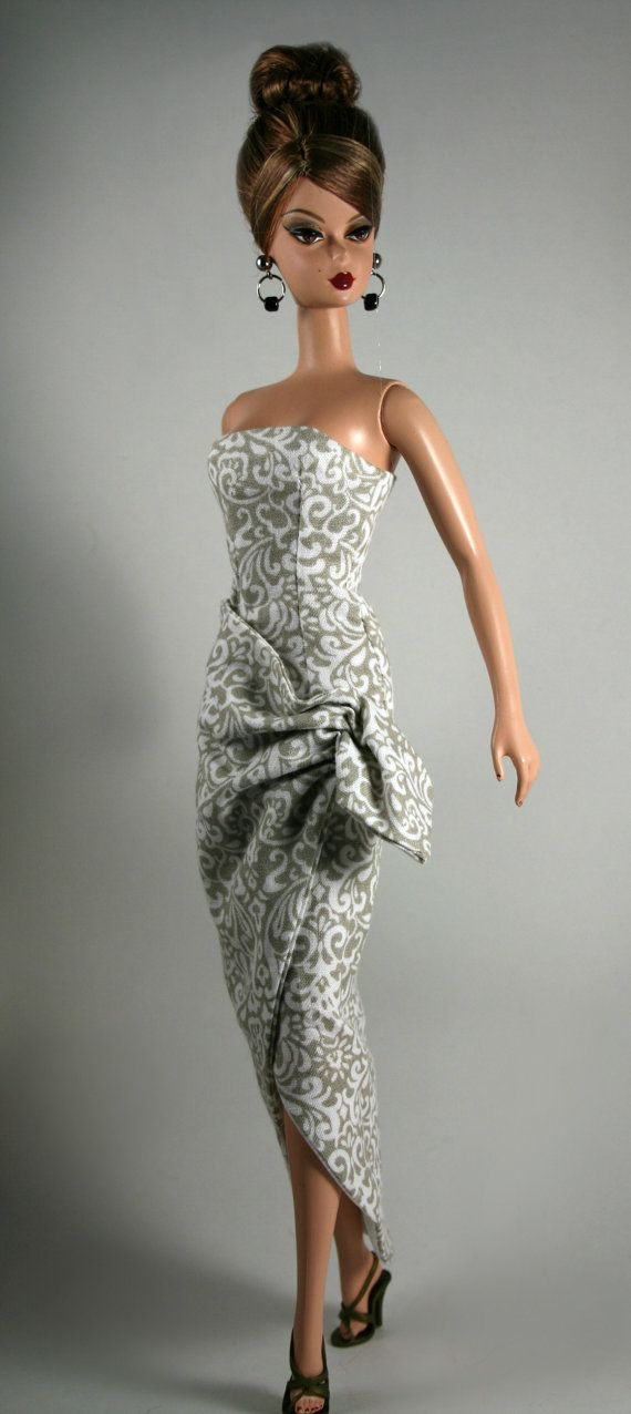 Sarong Style Dress for Silkstone Barbie by ChicBarbieDesigns, $25.99