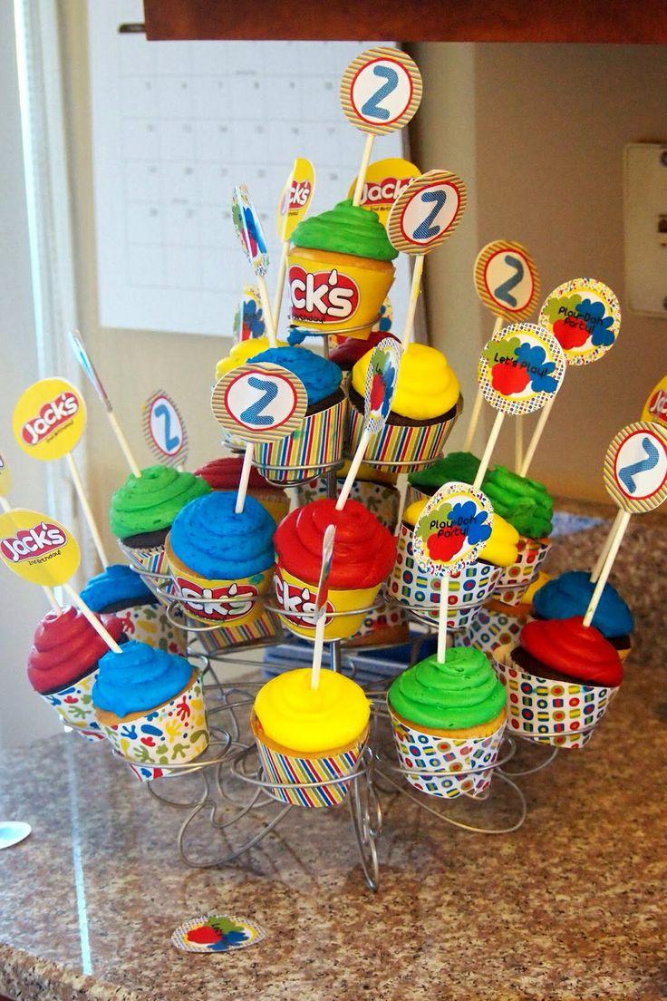 Play doh cupcakes