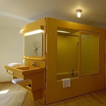 Lloyd Hotel, Amsterdam. Love this bathroom!