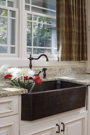 "Farmhouse Sinks Are  IN!"" Do You Agree? http://blog.akatlanta.com/2011/11/whats-trending-in-kitchens-and-baths.html"