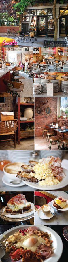 Buvette - Um dos lugares mais charmosos que já fui (tem em Paris também)! O lugar é pequeno, as mesas são meio apertadas, mas a comida é bem boa, vale a pena. Uma dica: Steamed eggs with prosciutto