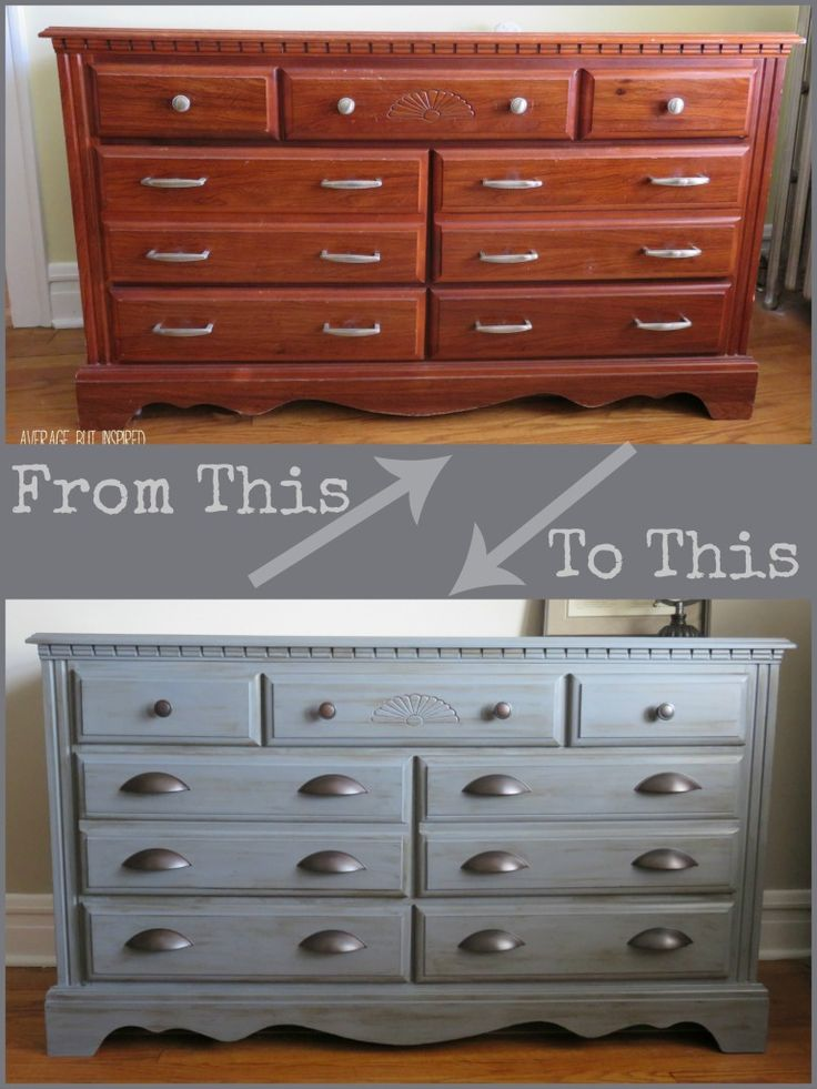 Dresser makeover with Americana Decor Chalky Finish Paint - Average But Inspired