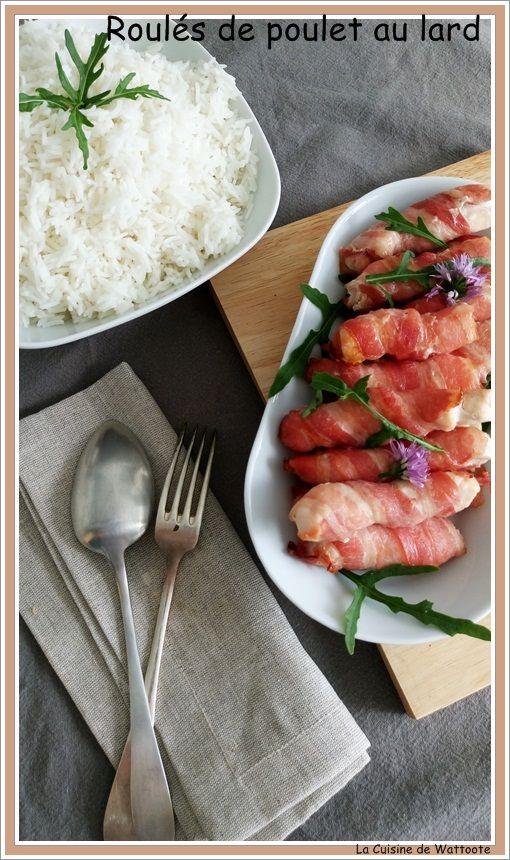 Un petit plat tellement simple et tellement bon. Ingrédients Pour 4 3 filets de poulet Tranches de poitrine fines Coupez les filets de poulet en long morceaux et enroulez les de poitrine. Disposez les dans un plat allant au four, enfournez les dans votre...