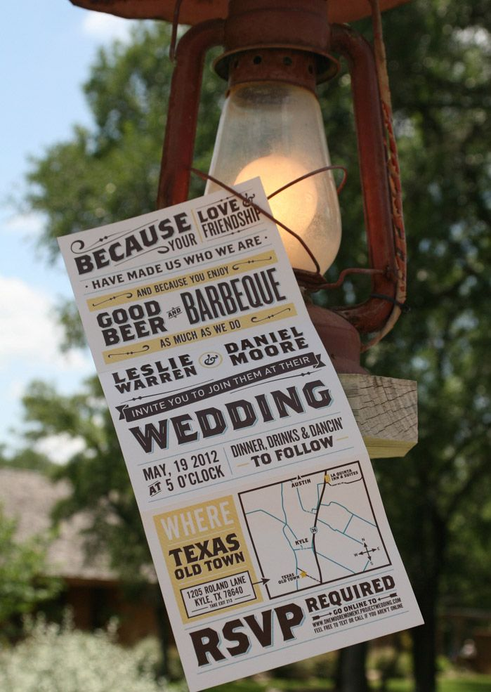 Moore Wedding! Our wonderful invitations designed by my wonderful husband.