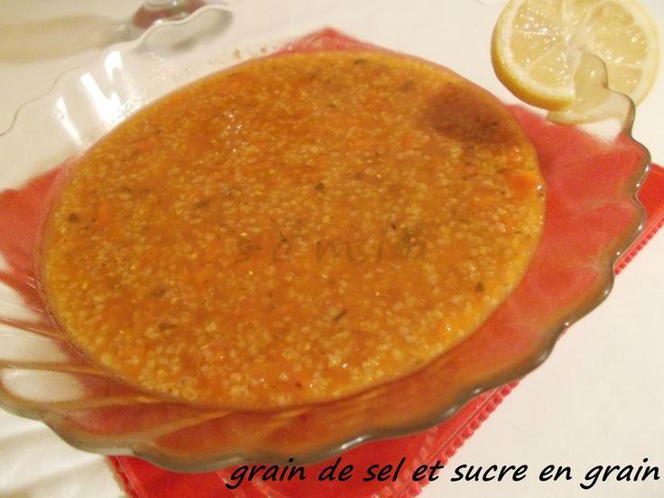 soupe de blé vert concassé (tchicha)