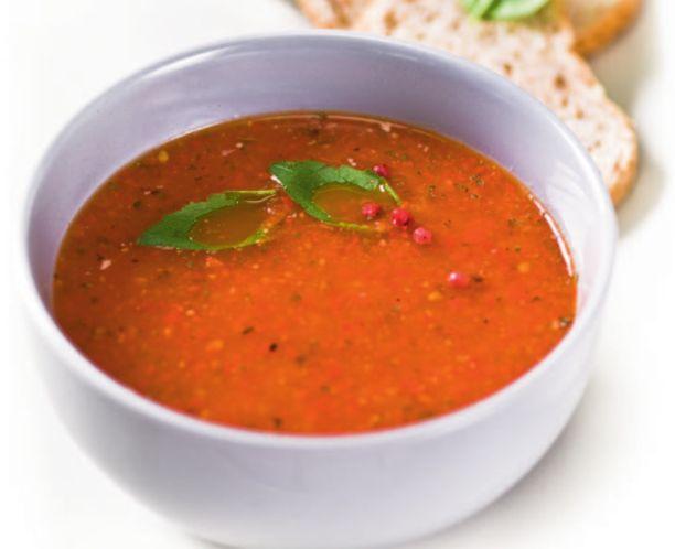 Суп-пюре из запеченного перца