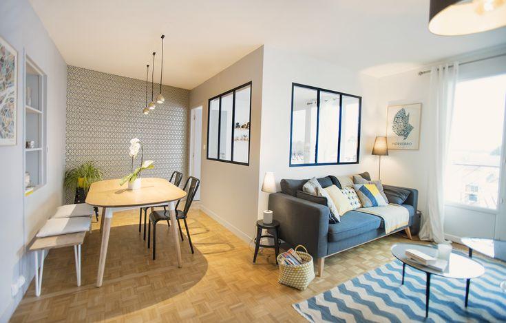 Création d'une chambre pour un futur bébé dans un appartement à Nantes (44) par @KiosqueDeco - Lydie Pineau - architecture et décoration d'intérieur Intégration de deux verrières traitées acoustiquement
