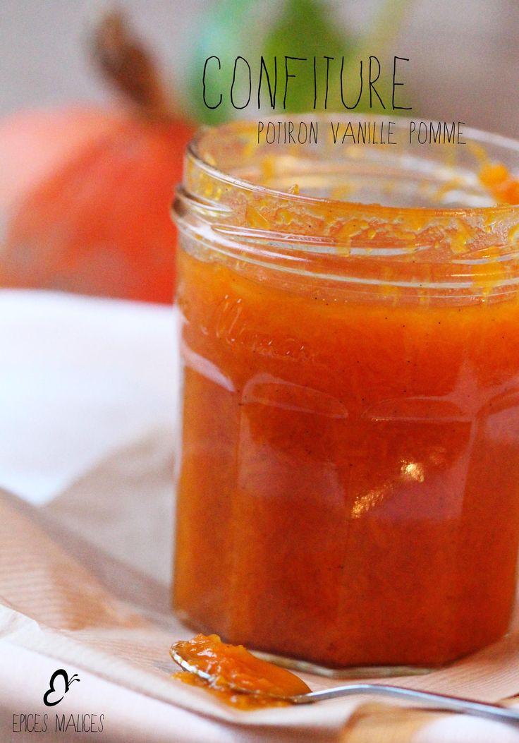 Confiture de Potiron, Pomme & Vanille                                                                                                                                                                                 Plus