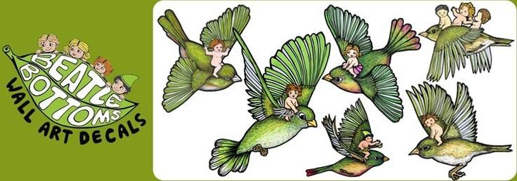 Beatle Bottoms Birds Wall Decals  $59 www.beatlebottoms.com