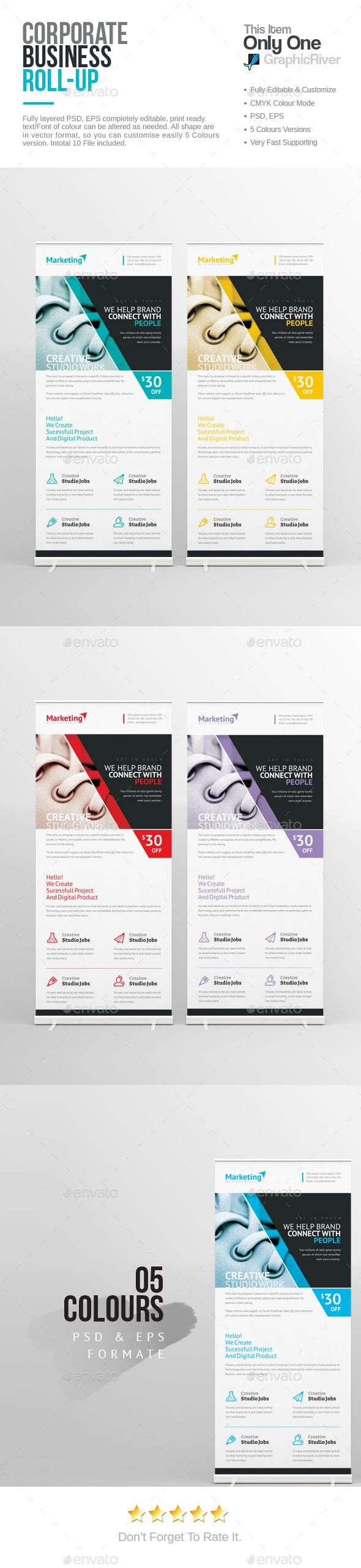 PSD Corporate Roll-up Banner  Template • Only available here ➝ http://graphicriver.net/item/corporate-rollup-banner/16488905?ref=pxcr