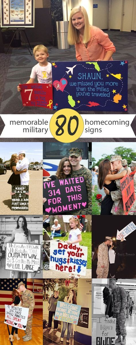 80 Signs & Ideas For Military Homecomings & Welcome Home Events   www.signs.com #military #homecoming #welcomehome
