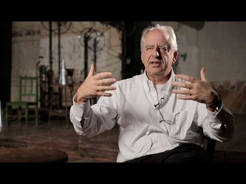 Willian Kentridge discuss his process of creating animation using charcoal and obejcts