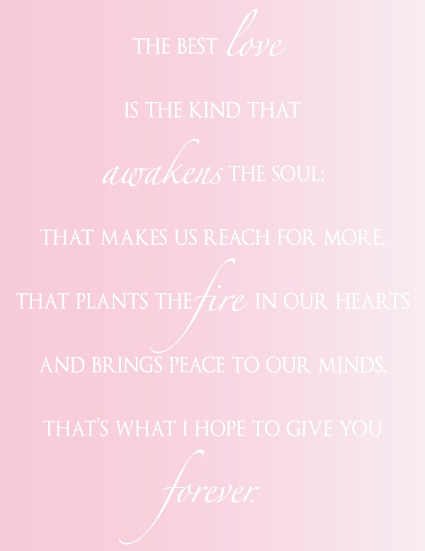 Love Quote via One Hitched Lane