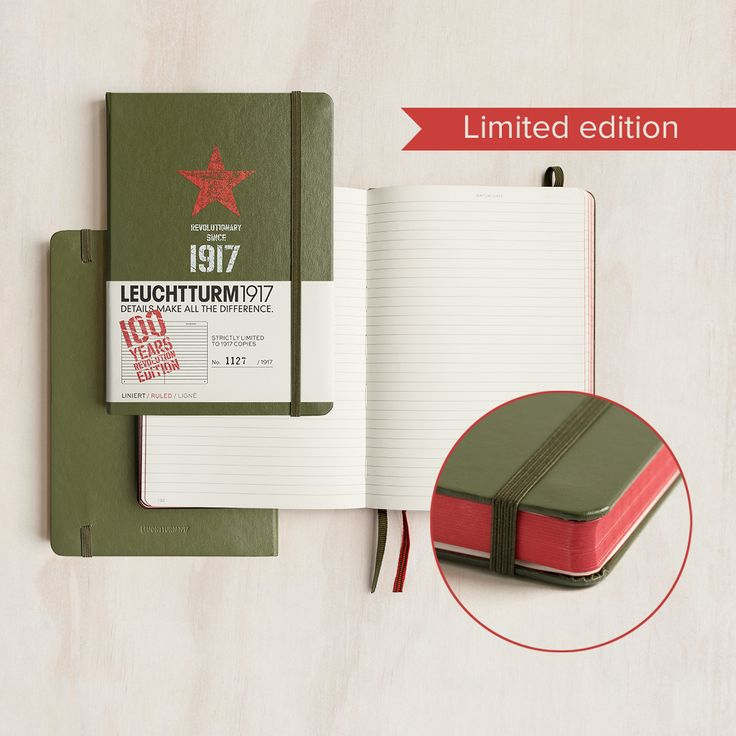 Revolution is in the air in 1917. The time is ripe and we witness the most significant event of the year — Leuchtturm Albenverlag is founded. This is a special 100 year anniversary limited edition Revolution notebook from @Leuchtturm1917  Each notebook is individually numbered with only 1917 produced — a strictly limited edition.