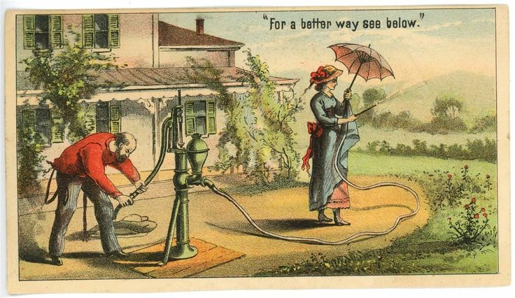 "BS Williams Windmill 2 PC Kalamazoo MI ""Hydrant"" Sprinkler Victorian Trade Card | eBay"