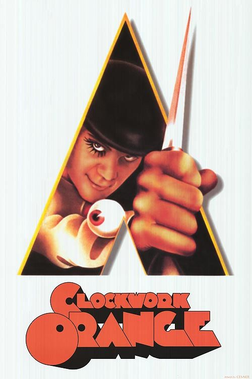 "A CLOCKWORK ORANGE   Alex is a charismatic young man who has a strong interest in classical music and terms of ""ultra-violence.""  He and his droogs would cause trouble almost every day and night.  One night, Alex was betrayed by his own droogs and arrested for committing a murder.  Two years later, he was later volunteered for an experimentation to ""cure"" insane criminals.  And when everything seemed okay for him, things suddenly gotten worse!  Genre:Sci-fi, Psychological, Crime, Drama"