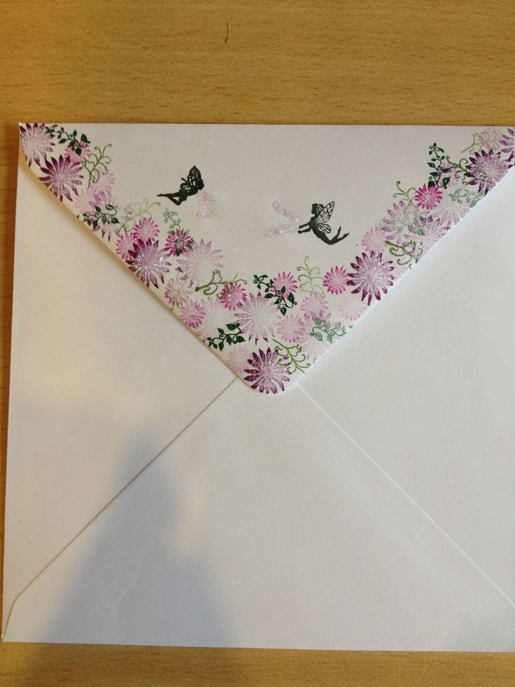 Dress up an envelope using Rubber Stamp Tapestry stamps!
