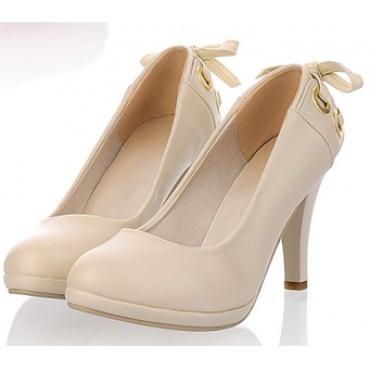 Scarpe con tacco colore crema  - calzata dal 35 al 43  Consegna 8/10 giorni lavorativi. Costo spedizione € 2,99