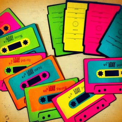 ADORABLE 80's party invite idea!!  (intricate simplicities)   Replicate to stag and doe tickets.