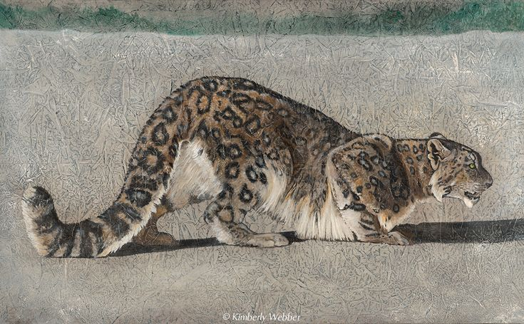 Return of the Snow Leopard | 36″ x 58″ earth pigments, encaustic, oil on canvas