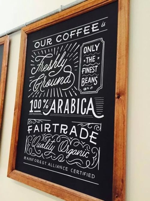 "A collection of the hand-painted lettering chalkboards I've created over the last six months. At the top, I designed over ten boards for a small recently opened coffee shop back in my home town near Birmingham. Beneath that the ""We Built This City on Bacon Rolls"" sign is displayed happily in The Breakfast Club's Eggquarters. The following close ups are from Be At One bar, a group of cocktail bars spanning across London and some parts of England. The final designs were ..."