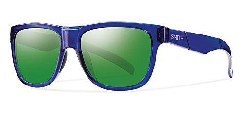 Smith Optics Lowdown Slim Sunglass with Carbonic TLT Lenses, Crystal Blue/Green