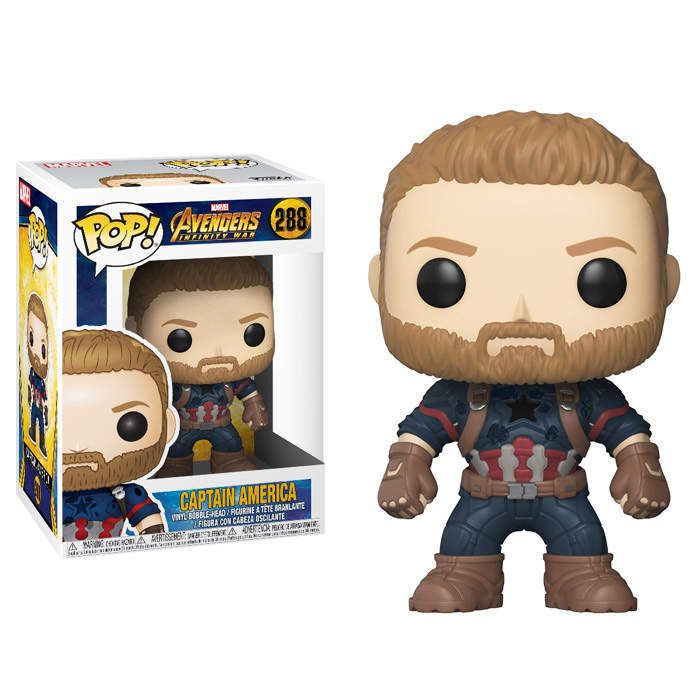 Funko POP <b>Marvel</b>: <b>Avengers Infinity War</b> - Captain America Figure ...