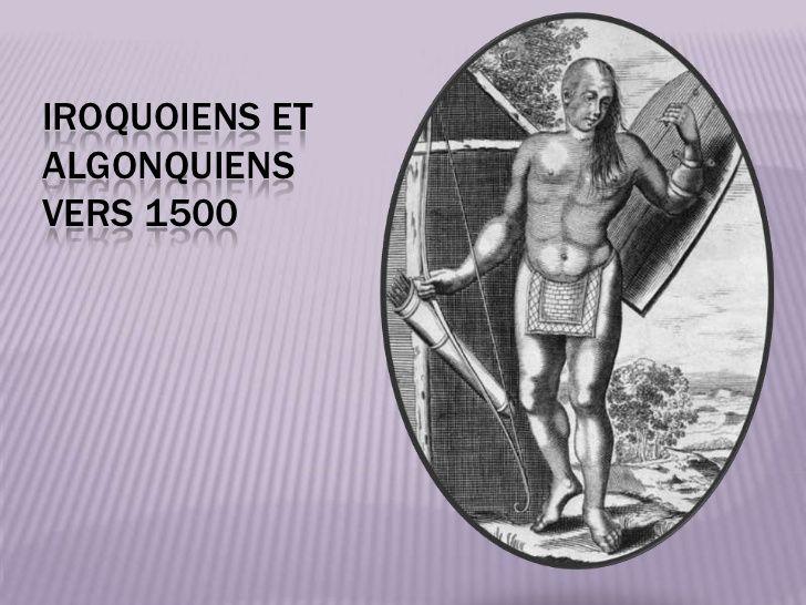 Iroquoiens et algonquiens vers 1500