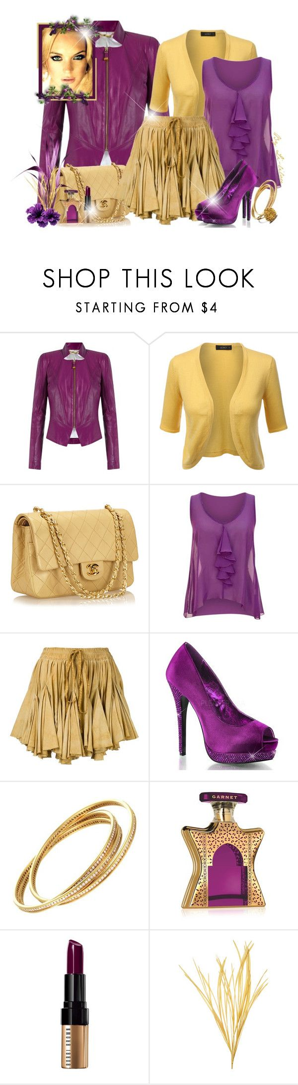 """""""💛Charmed 💜"""" by li-lilou ❤ liked on Polyvore featuring Tufi Duek, LE3NO, Chanel, jon & anna, Vivienne Westwood Gold Label, Cartier, Bond No. 9 and Bobbi Brown Cosmetics"""