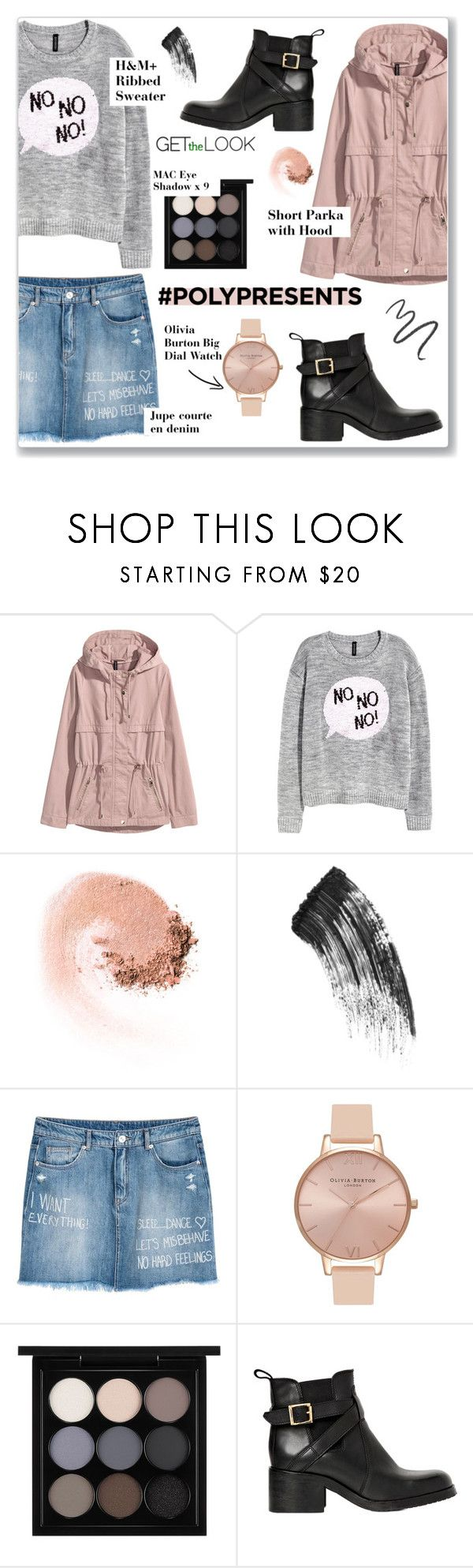 """""""#PolyPresents: Wish List"""" by arwaroro48 ❤ liked on Polyvore featuring H&M, NARS Cosmetics, Charlotte Tilbury, Olivia Burton, MAC Cosmetics, Carvela Kurt Geiger, Maybelline, contestentry and polyPresents"""